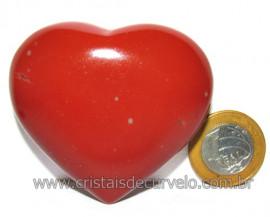 Coraçao Jaspe Vermelho Pedra Natural de Garimpo Cod 116128