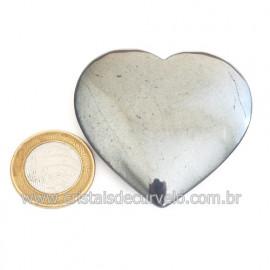 Coração Hematita Pedra Natural Lapidação Manual Cod 121735