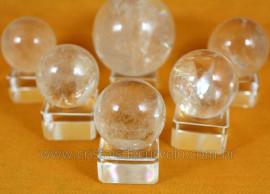 5 Esferas Cristal Pequena Quartzo semi Transparencia  ATACADO REF 500