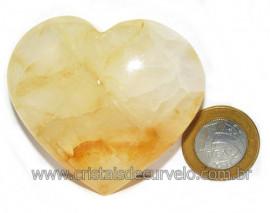 Coração Hematoide Amarelo Natural Presente Ideal Cod 116028