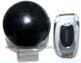 Esfera Pedra Quartzo Preto ou Quartzito Natural Cod BP5199