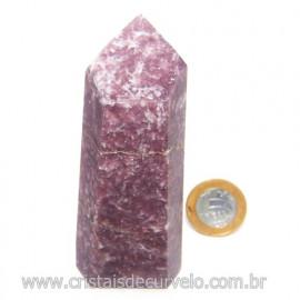 Ponta Lepidolita Pedra Natural Gerador Sextavado Cod 119260