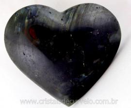 Coração Labradorita ou Spectrolite Pedra Natural de Garimpo Tamanho Medio Cod 239.4