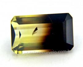 Gema Quartzo Bi Color Pedra Natural Montagem Joia Cod QB9166