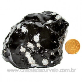 Obsidiana Flocos de Neve Pedra Vulcanica Natural Cod 114670