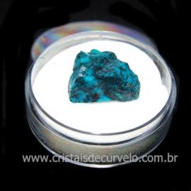 Crisocola Bruto Lasca No Estojo Mineral Natural Cod 118510