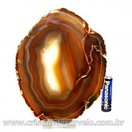 Chapa de Agata Preta  Porta Frios Bandeja Pedra Natural 127045