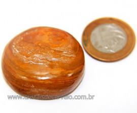 Massageador Cabochão Jaspe Amarelo Pedra Natural Cod 111065