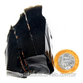 Obsidiana Negra Mineral Vulcanico Pedra Natural Cod 123977