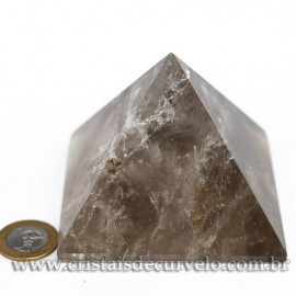 Pirâmide GRANDE Pedra Quartzo Fumê Natural Queops cod 120723
