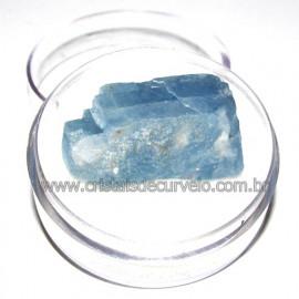 Calcita Azul do Mexico no Estojo Pedra Natural Cod 114201