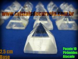 10 Piramides Cristal Medida Baseada Quéops Tamanho Medio 50% Transparente