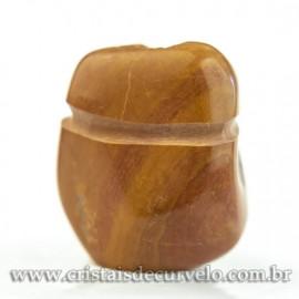 Pingente Pedra Rolada Quartzo Jiboia Difusor Aromaterapia Ranhurado