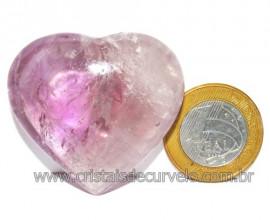 Coraçao Ametista Pedra Natural Ideal P/Presentear Cod 116112