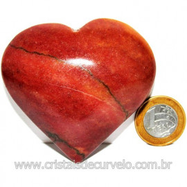 Coração Quartzo Vermelho Pedra Natural de Garimpo Cod 116006