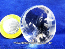 Cristal Rolado Pedra Natural Tamanho Medio Rocha de Garimpo Cod 36.5