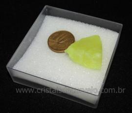 Calcedonia Verde Natural No Estojo Ideal P/Coleção Cod 104730