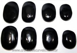10 Massageador Sabonete Pedra Quartzo Preto 6 a 8cm Terapeutica