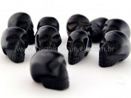Cranio Não Pingente Pedra OBSIDIANA NEGRA Esculpido em Pedra Natural Pequeno