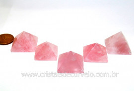Mini Piramide Quartzo Rosa Natural Base Quéops Reff MP7740