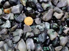 Pedra Esmeralda Rolado Baixo Qualidade de Verde T/ Medio 1 kg