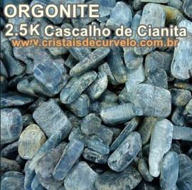 2,5 KG Cianita Azul Cascalho De Canudos para Fabricar Orgonite ATACADO