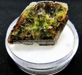 Esfenio Titanita Verde Mineral Natural No Estojo Para Colecionador Exigente Cod ET38.0