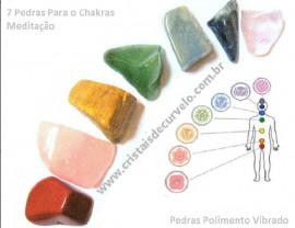 Chakras 7 Pedras Lapidação Vibrada Kit Economico Pedras Pequenas, Acima de 2 pague 4.00 cada