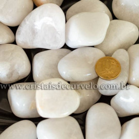 1 kg Pedra Rolado QUARTZO LEITOSO Tipo Grande REFF 112978