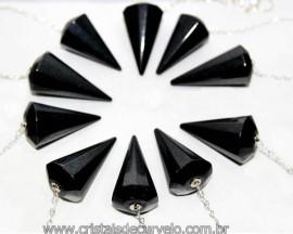 10 Pêndulos Quartzo Preto Pedra Facetado ATACADO REFF 101286