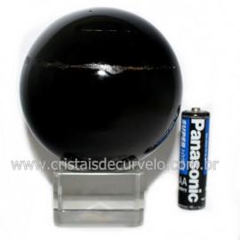 Esfera Obsidiana Negra Pedra Lava Vulcanica Natural 126658