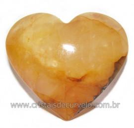Coração Hematoide Amarelo Natural Presente Ideal Cod 116035