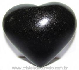 Coraçao Quartzo Preto Quartzito Negro Natural Cod 115336