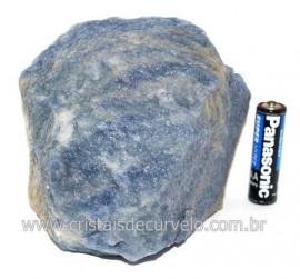 Quartzo Azul ou Aventurina Azul Bruto Natural Cod 121518