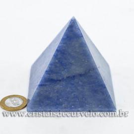 Pirâmide GRANDE Pedra Quartzo Azul Natural Queops cod 120749