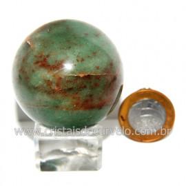 Esfera Quartzo Verde Pedra Natural Bola Lapidado Cod 118807