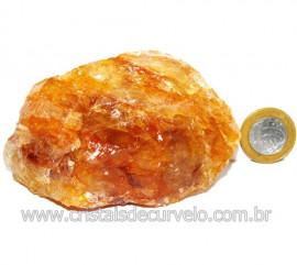 Hematoide Amarelo Pedra Bruto Quartzo Natural Cod 114645