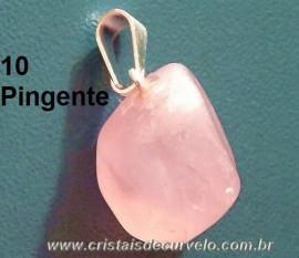 Lembrança de Casamento 10 Pedrinha Pingente Pedra Quartzo Rosa ATACADO