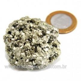 Pirita Peruana Pedra Extra Com Belos Cubo Mineral Cod 124228