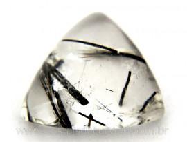 Turmalina Preta Gema Incrustada no Cristal Natural Lapidado Pra Joias Cod TI7891
