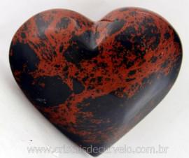 Coração Obsidiana Mahogany ou Mogno Mineral Lava Vulcanica Colecionar Cod 165.3