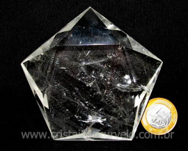Pentagrama Wicca Pedra Cristal Estrela 5 pontas cod PC9014