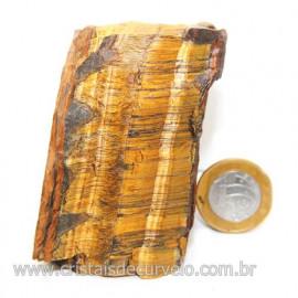 Olho de Tigre Pedra Extra Bruto Natural da África Cod 121219