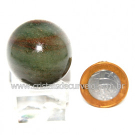 Esfera Quartzo Verde Pedra Natural Bola Lapidado Cod 118795