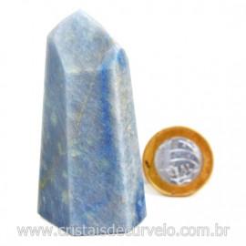 Ponta Quartzo Azul Pedra Natural Gerador Sextavado Cod 127781