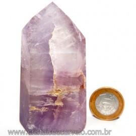Ponta Ametista Natural Lapidado Gerador Sextavado Cod 113595