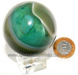 Esfera Agata Geodo Tamanho Pequeno Lapidado Manual Cod 109369