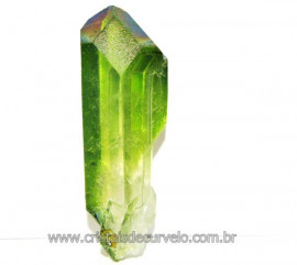 Ponta Crystal Aura Apple ou Maça Verde Pedra Bruta Cod AA3899