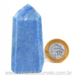 Ponta Quartzo Azul Pedra Natural Gerador Sextavado Cod 127777