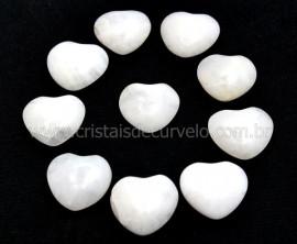 10 Coração Pedra Quartzo Leitoso Furado Pra Montagem 23x25mm REFF CF2636